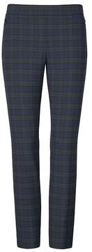 Banana Republic Sloan Skinny-Fit Tartan Plaid Side-Zip Pant
