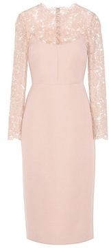 Valentino Lace-panelled dress