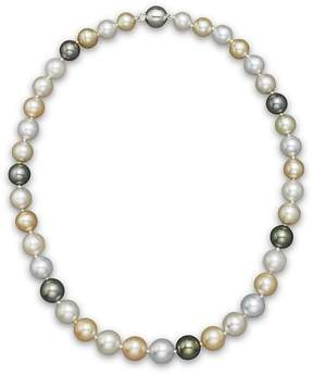 Bloomingdale's Cultured South Sea and Tahitian Pearl Necklace, 18