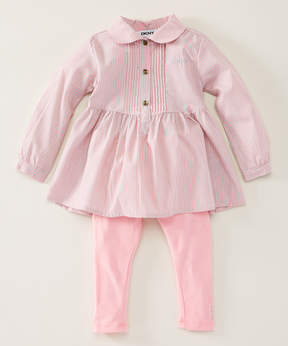 DKNY Pink School Ready Tunic & Leggings - Infant, Toddler & Girls
