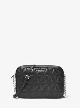 Michael Kors Jet Set Travel Quilted-Leather Crossbody - BLACK - STYLE