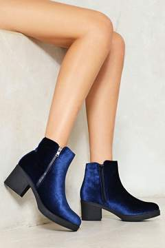 Nasty Gal nastygal Soft at Heart Velvet Ankle Boot