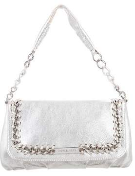 Michael Kors Metallic Leather Flap Bag - SILVER - STYLE
