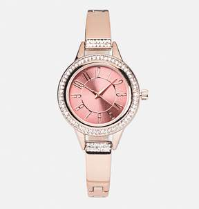 Avenue Stone Encrusted Rose Gold Link Watch