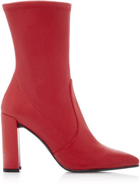 Stuart Weitzman Clinger Stretch-Leather Ankle Boots