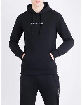 Criminal Damage Orie dragon-embroidered cotton-jersey hoody