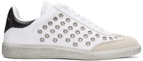 Isabel Marant White Bryce Eyelet Studded Sneakers