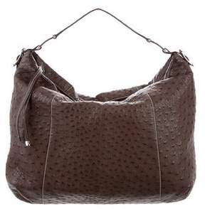 Lambertson Truex Ostrich Shoulder Bag