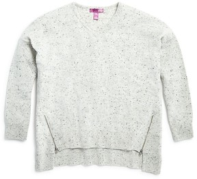Aqua Girls' High Low Cashmere Sweater , Big Kid - 100% Exclusive