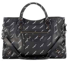 Balenciaga Classic City printed leather tote