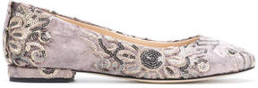 Anna Baiguera floral sequin ballerina shoes