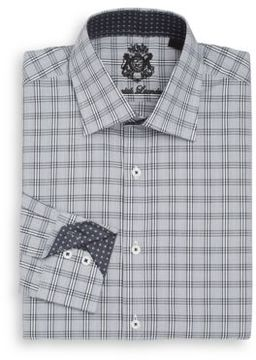 English Laundry Regular-Fit Checked Dress Shirt
