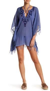 Letarte Floral Embroidered Tassel Tunic