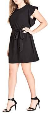 City Chic Ring Me Ruffle Tunic Dress