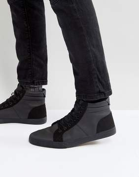 Call it SPRING Seymard Hi Top Sneakers In Black