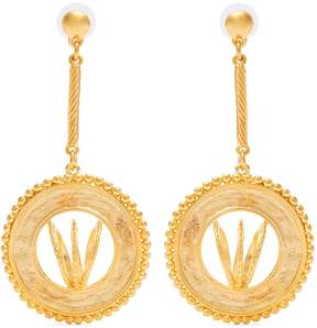 Emilia Wickstead Diane gold-plated disc-drop earrings