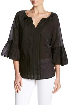 Velvet by Graham & Spencer Bell Sleeve Cotton Blouse