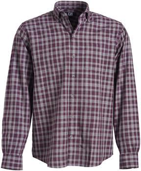 Cutter & Buck Purple & Gray Plaid Terrain Button-Up - Men