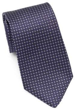 Isaia Geometric Pattern Silk Tie