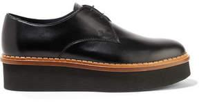 Tod's Leather Platform Brogues - Black