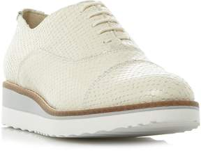 Dune London FARA - OFF WHITE Lace Up Flatform Shoe