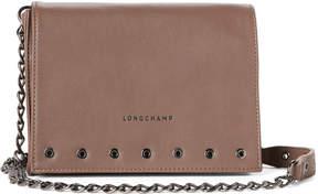 Longchamp Taupe Paris Rocks Small Leather Crossbody