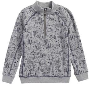 Splendid Boy's Print Quarter Zip Pullover