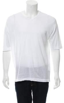 John Smedley Knit V-Neck T-Shirt