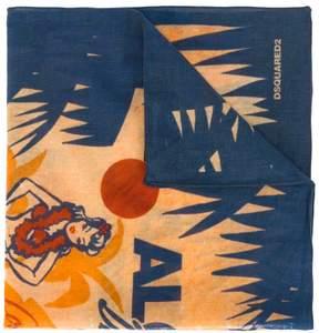 DSQUARED2 Hawaiian print scarf
