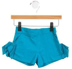 Lili Gaufrette Girls' Bow-Accented Mini Shorts