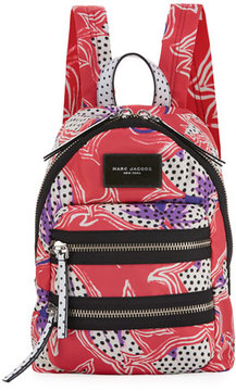 Marc Jacobs Spotted Lily Printed Biker Backpack, Red/Multi - RED MULTI - STYLE