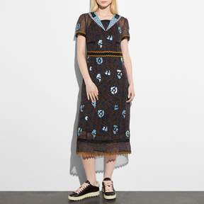 COACH COACH WILD BEAST NAUTICAL DRESS - BLUE MULTI