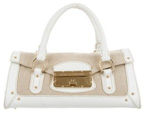Dolce & Gabbana Leather-Trimmed Canvas Handle Bag - NEUTRALS - STYLE