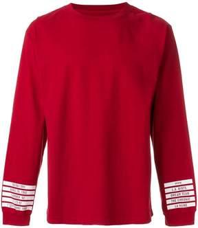 RtA back logo print sweatshirt