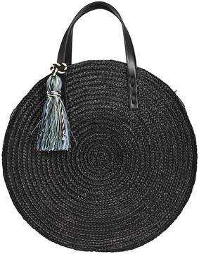 Rebecca Minkoff Straw Circle Tote Bag - BLACK - STYLE
