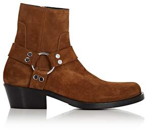 Balenciaga Men's Santiag Suede Harness Boots