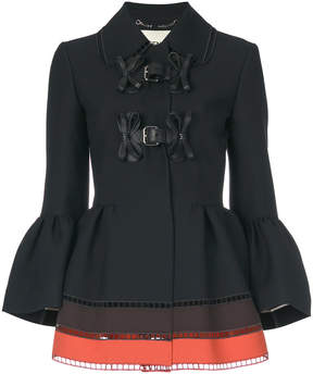 Fendi panelled peplum jacket