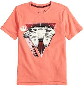 Star Wars A Collection For Kohls Boys 4-7x a Collection for Kohl's Millenium Falcon Tee