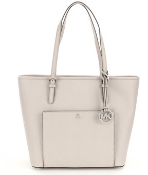 MICHAEL Michael Kors Jet Set Large Snap-Pocket Tote - CEMENT - STYLE
