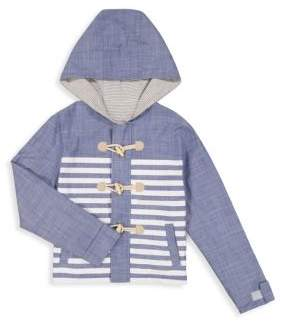 Andy & Evan Little Boy's Reversible Chambray Striped Toggle Parka