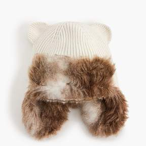 J.Crew Kids' fur-lined trapper hat with cat ears