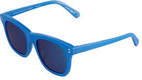 Stella McCartney Square Plastic Sunglasses, Cobalt