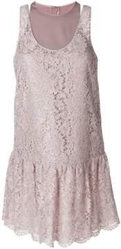 Valentino layered heavy lace dress