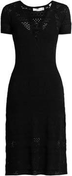 A.L.C. Trevi V-neck eyelet-knit dress