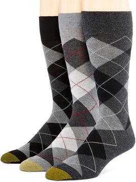 Gold Toe Mens 3-pk. Dress Crew Socks