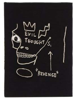 Olympia Le-Tan Olympia Le Tan X Basquiat Evil Thoughts Clutch - Womens - Black White