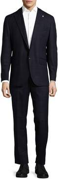Lubiam Men's Box Striped Wool Suit