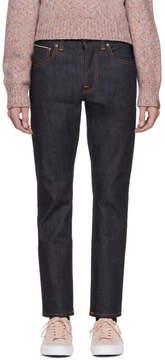 Nudie Jeans SSENSE Exclusive Indigo Dry Fearless Freddie Jeans