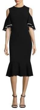 Shoshanna Keiko Cold-Shoulder Dress