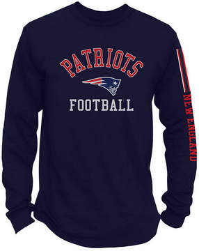 Authentic Nfl Apparel Men's New England Patriots Spread Formation Long Sleeve T-Shirt